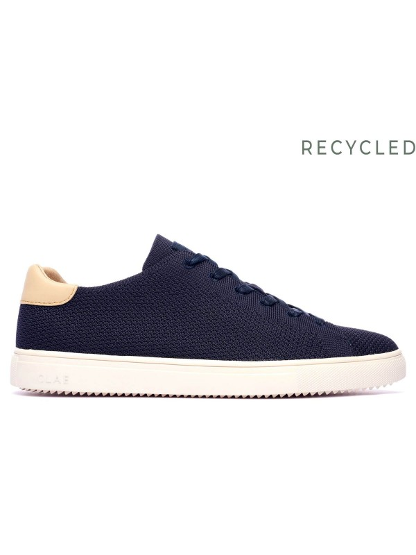 Bradley Knit Deep Navy Natural Leather