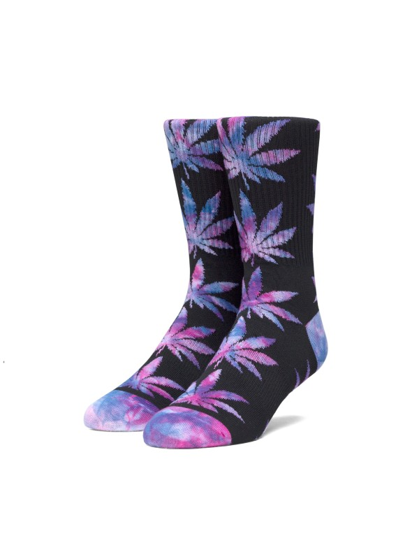 Plantlife Tiedye Leaves Sock Black SK00433-BLACK