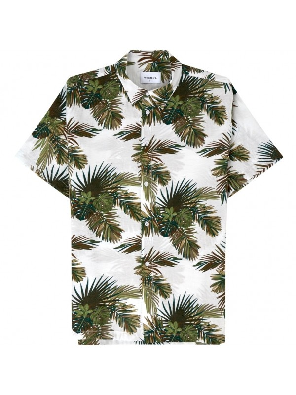 Calm Palm Shirt White-Green 2026-708