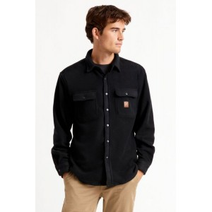 Bowery L/S Flannel Fleece Black 01221-BLACK