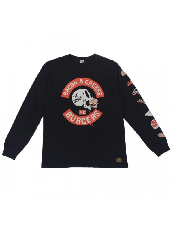 Bacon Cheese Burgers Longsleeve Black 1002614
