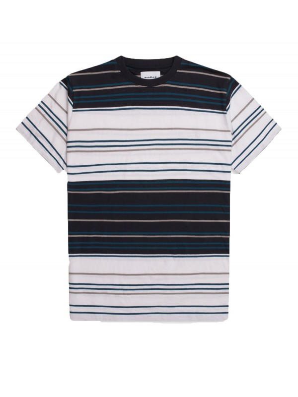 Ranbo Stripe Tee White-Navy 2036-417