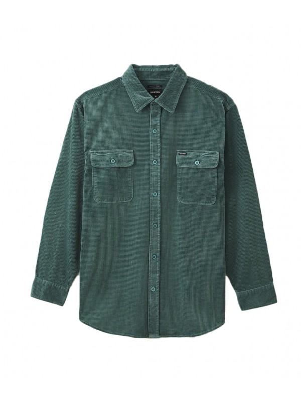 Bowery Relaxed L/S X Flannel Silver Pine 01249-SLVPN