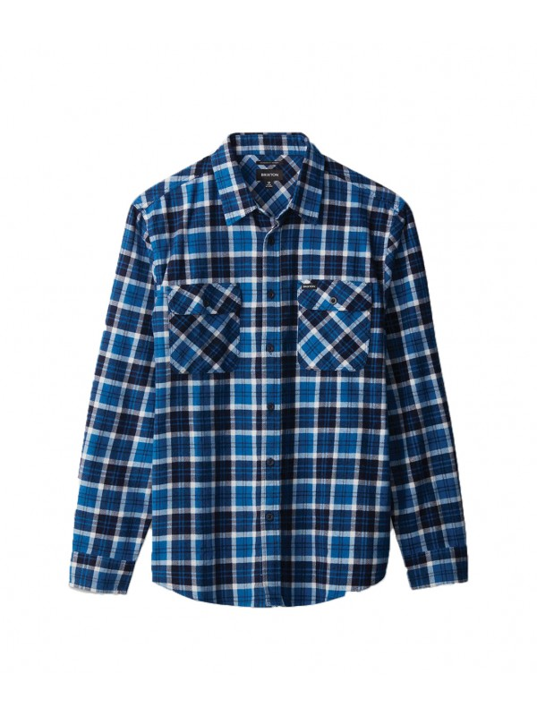 Bowery LW L/S Flannel Navy/Royal 01214-NAVRO
