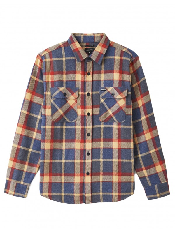 Bowery L/S Flannel Blue/Red 01213-BLRED