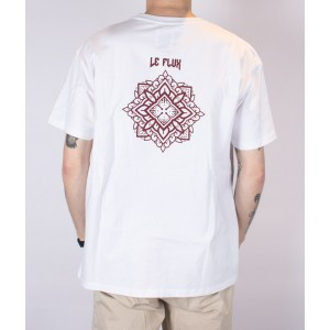 Le Flux x Andy van Rens Mandala Oversized Tee White/Red LF211-041112