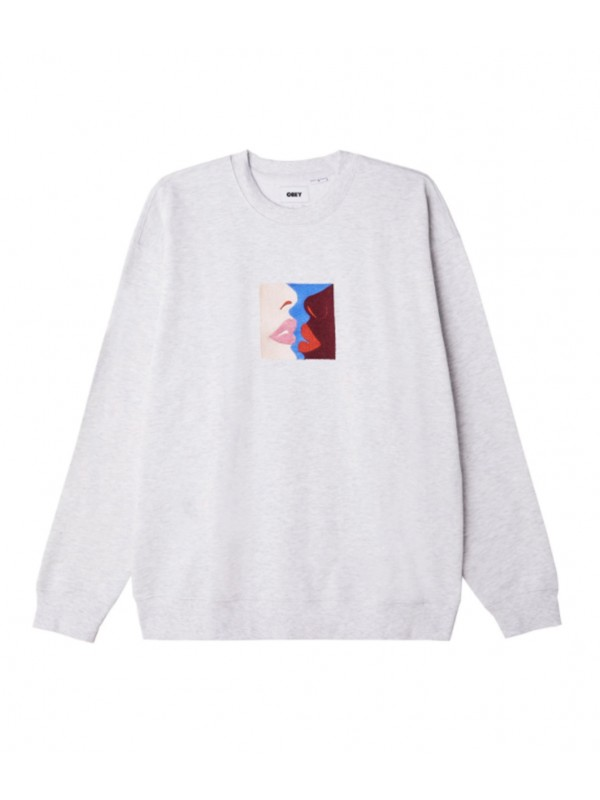 Lips Crewneck Grey Heather 112480090 AGRY