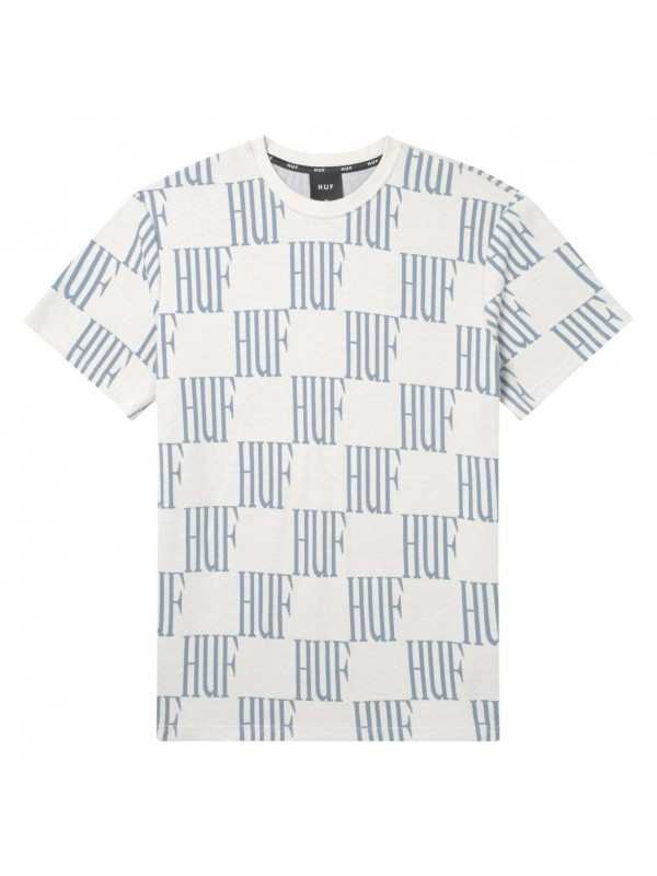 Big Checked S/S Knit Top Light Grey KN00115-LTGRA