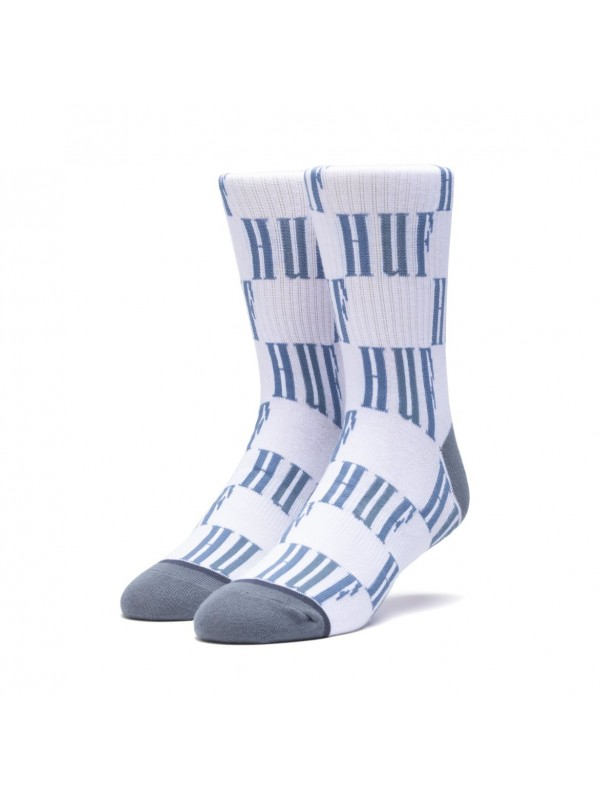 Big Checkered Sock Blue Mirage SK00372-BLMIR