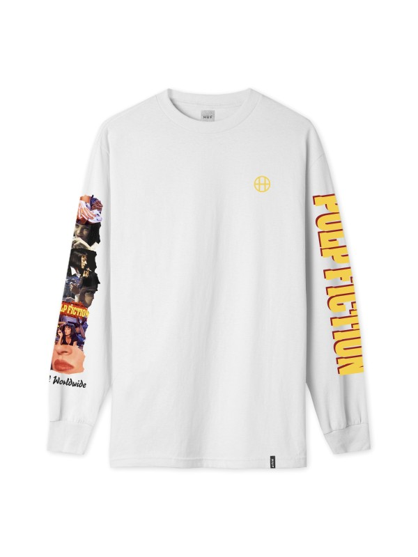 Pulp Fiction Collage L/S Tee White TS01308-WHITE