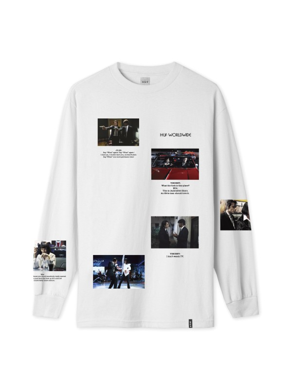 Pulp Fiction Scenes L/S Tee White TS01306-WHITE