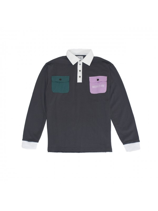 Utility L/S Polo Grey IO19029