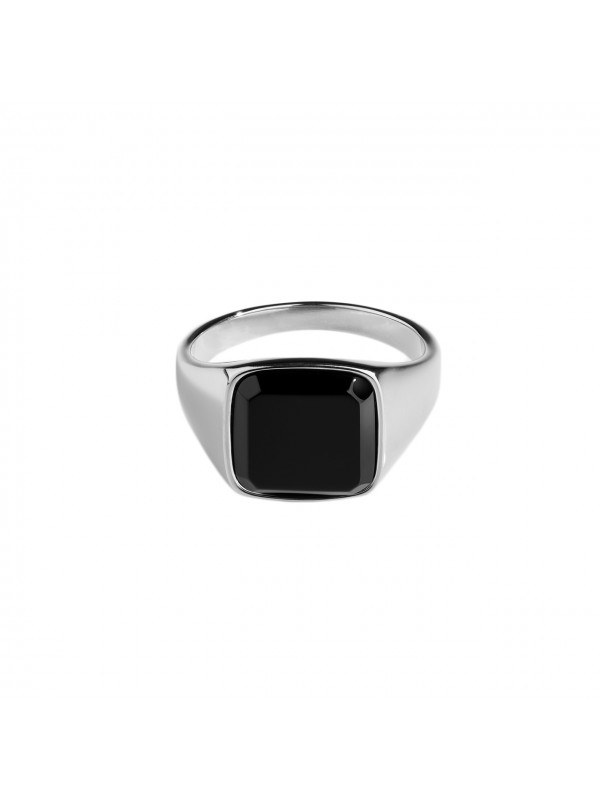 Black Onyx Signature Ring - Silver