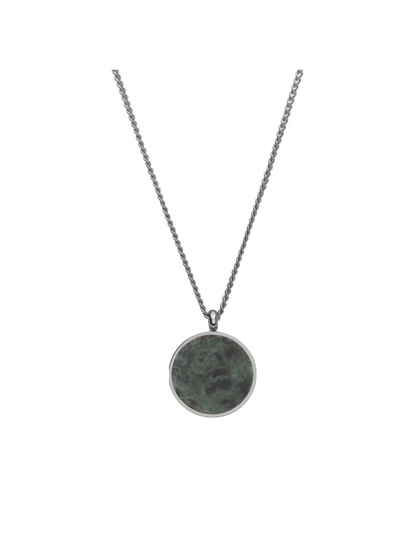 Verde Antique Pendant - Silver