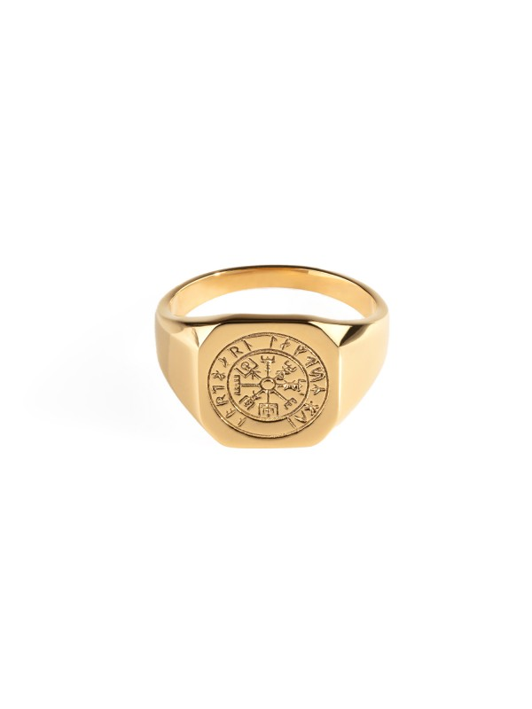 Vegvisir Signature Ring - Gold