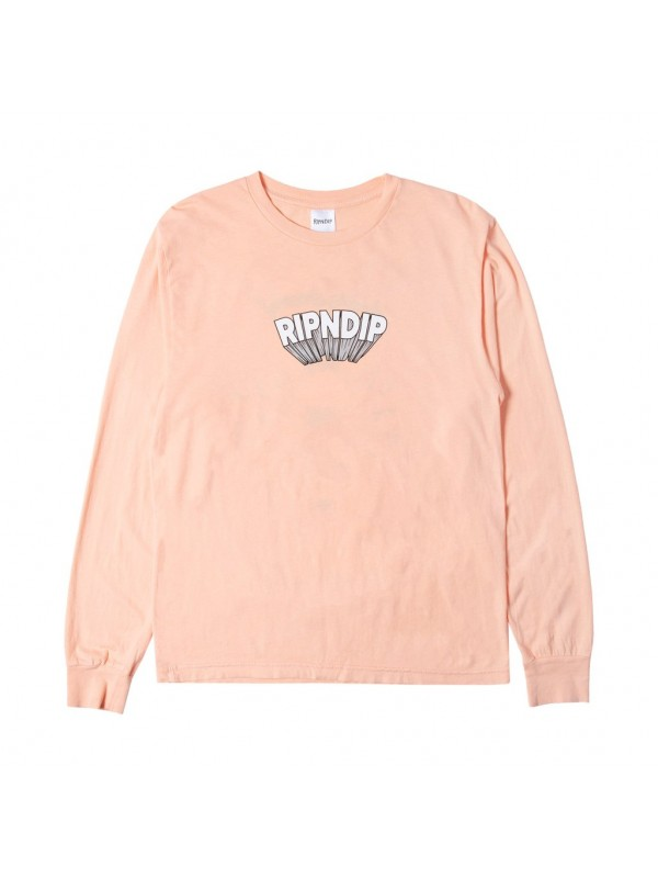 Mind Blown Longsleeve T-Shirt Peach RND3943