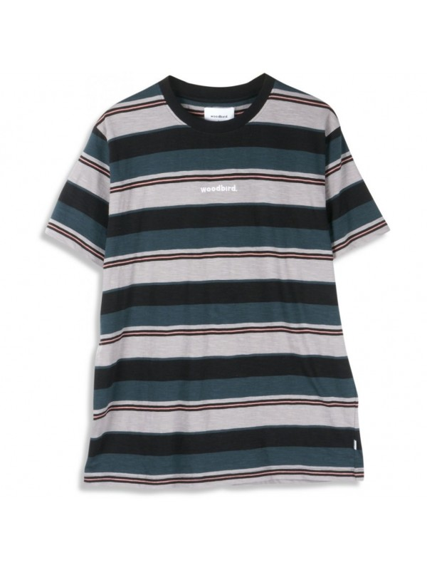Cjung Stripe Tee Black 1936-407